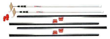 Zipwall Floor and Ceiling Dust Seal Kit.