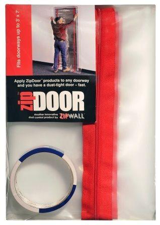 Zipwall ZipDoor - Seal existing doorway openings up to 1150mm (W) x 2200mm (H)