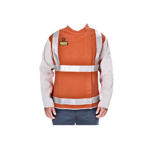 Wakatac Welders Jacket with Hi-Vis & Leather Sleeves