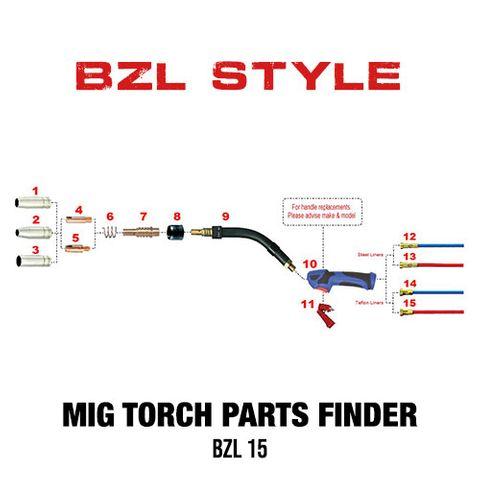 BZL 15 Style Mig Torch Spares