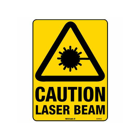 Caution Laser Beam Sign 450 x 300