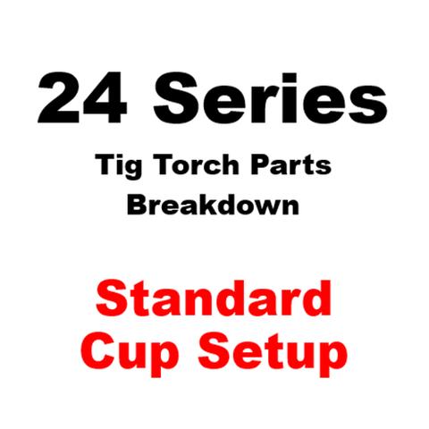 WP24 Series Standard Cup Tig Torch Setup