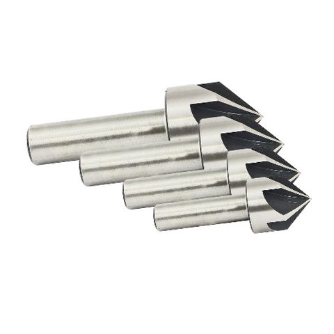 Five Fluted Countersink Set 4pc / 8-16mm