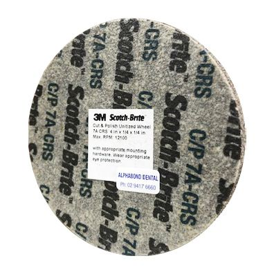 "Scotchbrite 3M Unitised Wheel 4"" x 1/4"" 7A-CRS"