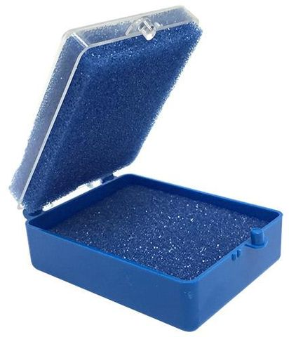Box Plastic 2-Blue With Clear 100pcs