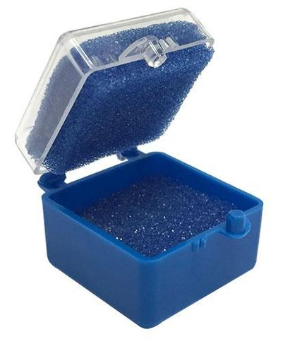 Box Plastic 1-Blue With Clear 100pcs