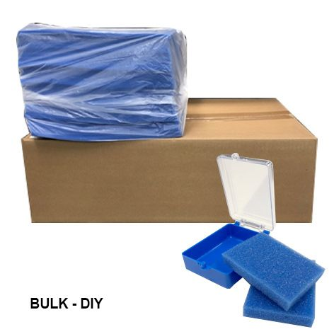 "DIY Bulk Buy - Plastic Box 2"" - Blue w/clear lid (500pcs)"