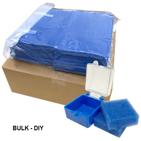 "DIY Bulk Buy - Plastic Box 1"" Blue w/clear lid (500pcs)"