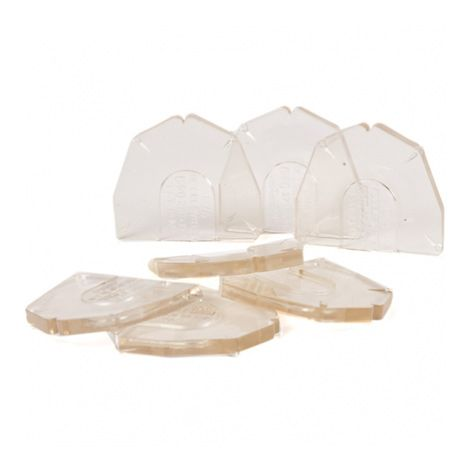 DVA Base Plates - Full Arch 100 pieces - Clear