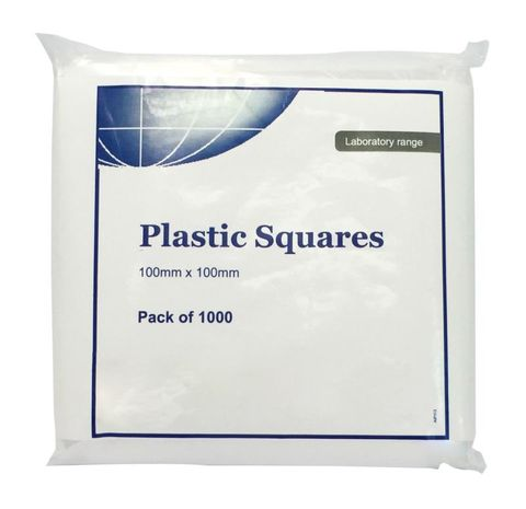 Plastic Sheets Squares 100x100mm