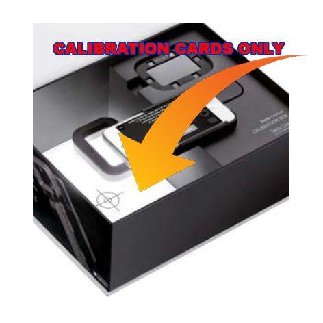 Calibration Cards Set 2pcs Iphone 5