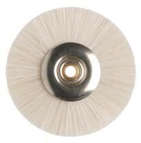 Miniature Brush White Goat Hair Soft 22mm 12pcs