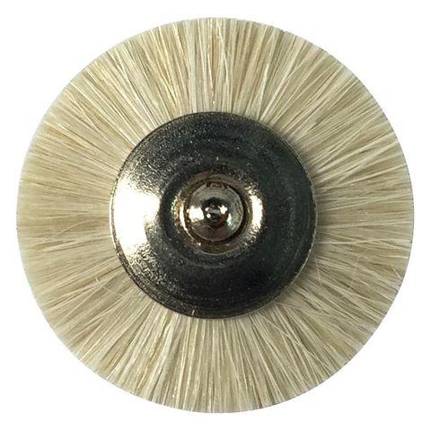 Mini Brush White Goat Hair Soft 19mm 12pcs