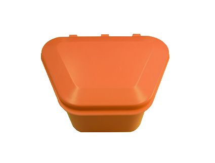 Denture Storage Box Orange 12pcs