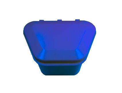 Denture Storage Box Dark Blue 12pcs