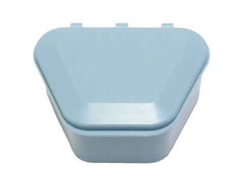 Denture Storage Box Light Blue 12pcs