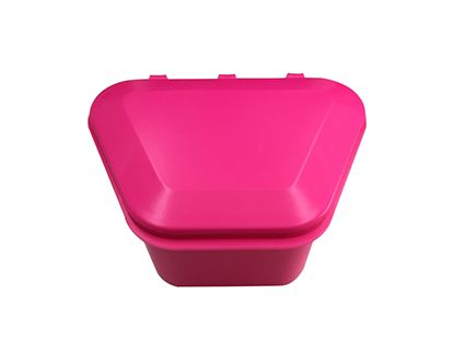Denture Storage Box Hot Pink 12pcs