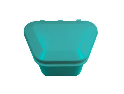 Denture Storage Box Aqua 12pcs