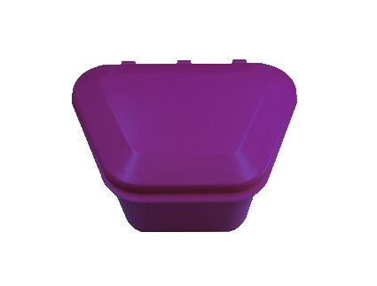 Denture Storage Box Purple 12pcs