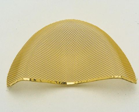 Gold Plated Mesh Inserts 68x40x12.5 5pcs