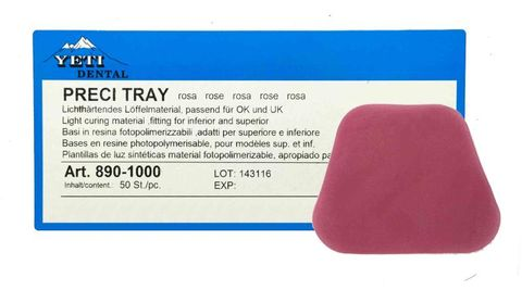 Preci Tray Light Curing Pink Material