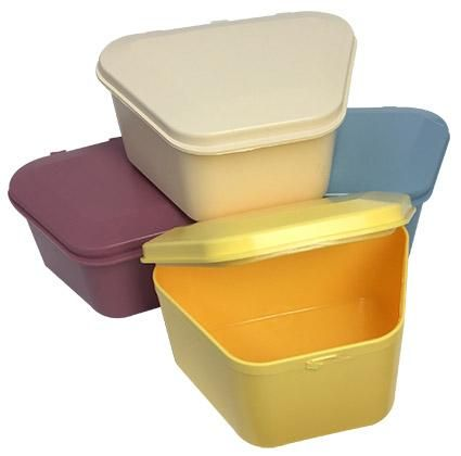 Denture Storage Box Assorted Colours 12pcs