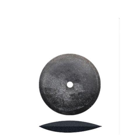 Black Knife-Edge Rubber Wheels 16mm 100 pieces