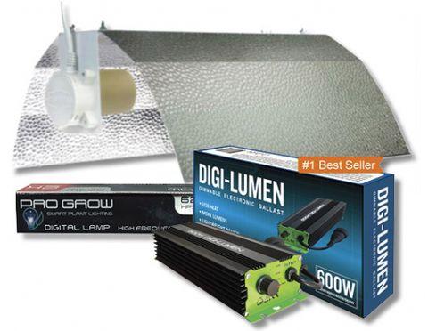 Digi-Lumen 600W Ballast, Reflector & Lamp Kit