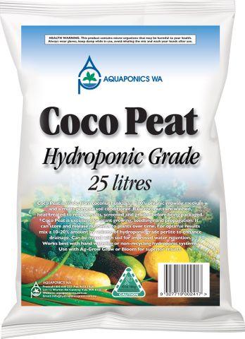 Aquaponics WA Coco Peat 25L