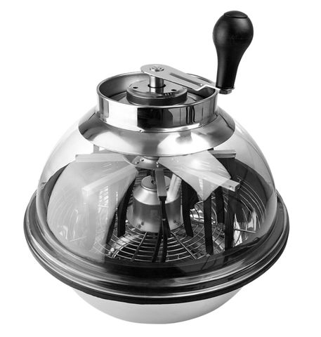 """Bowl Trimmer Clear Lid 16"""" Stainless Steel"""