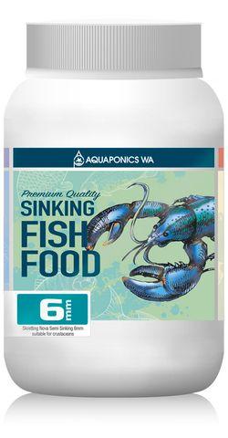 Aquaponics WA 6mm Sinking Fish Food