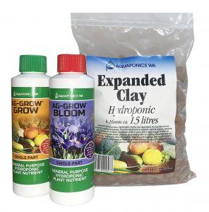 Ag-Grow Grow & Bloom 250mL + Expanded Clay Kit