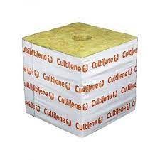 Cultilene 100x100x98mm Rockwool Cube with 40mm Hole