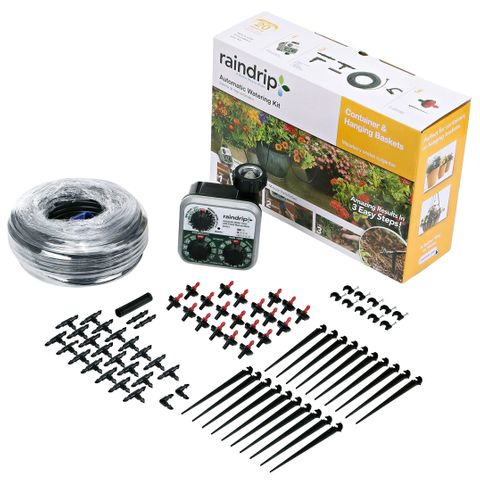 Raindrip Auto Watering Kit Pot Plants and Hanging Baskets