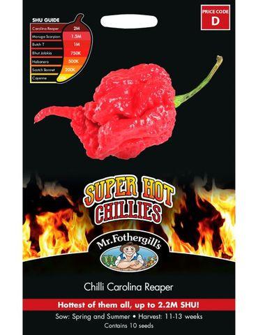 Mr. Fothergill's Chilli Carolina Reaper Seed Packet