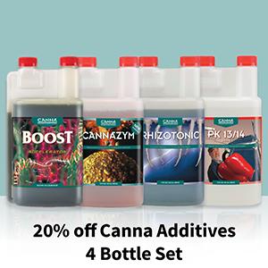 Canna Additive Set Boost, Cannazym, PK 13-14 and Rhizotonic 0.25L (250mL)