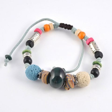 Multi Colour Blue Lava Rock Bracelet