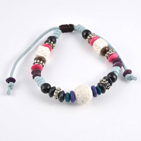 Multi White Lava Rock Bracelet