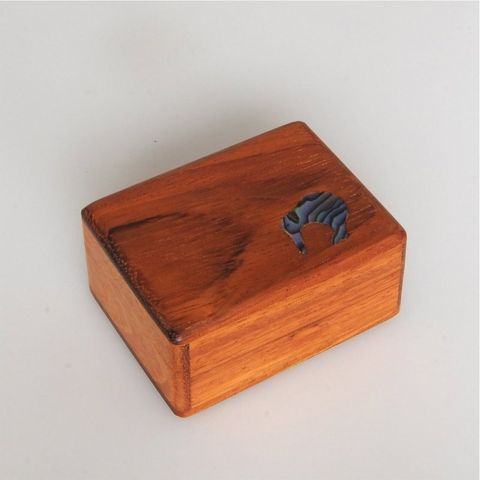 Paua Kiwi Ornament Wood Box
