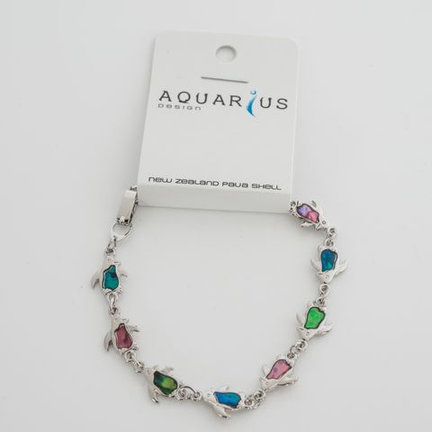 Multi colour Penguin Bracelet