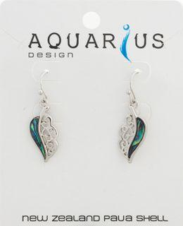 Paua Leaf Earring