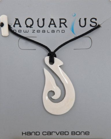 Whale Tail Hook Carving-Black String