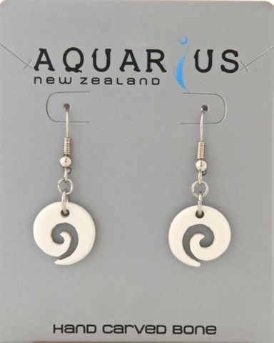 Open Koru Bone Hook Earring