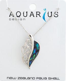 Paua Leaf Pendant