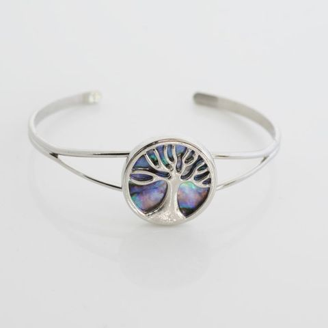 Paua Kauri Tree Bangle