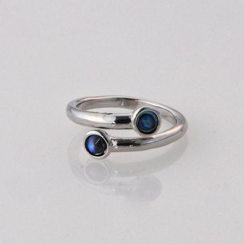 Paua Double Ring
