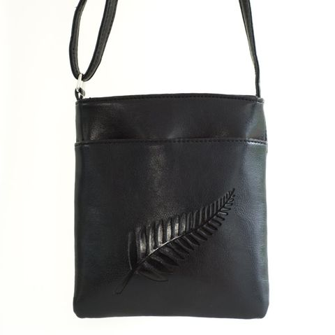 Black Fern Embossed Medium Bag