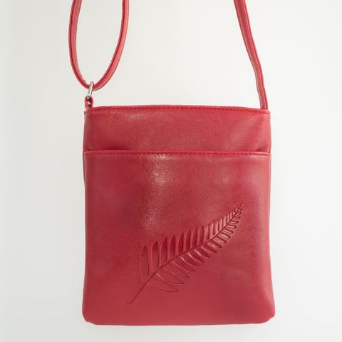 Red Fern Embossed Medium Bag