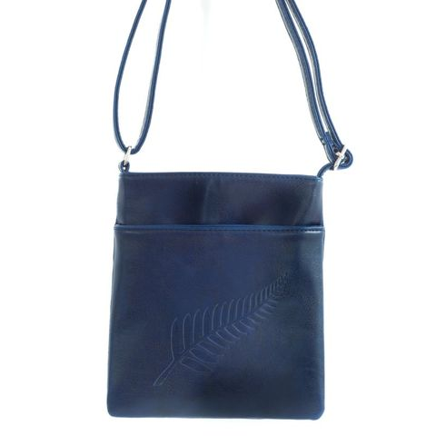 #Out of Stock#Navy Fern Embossed Medium Bag
