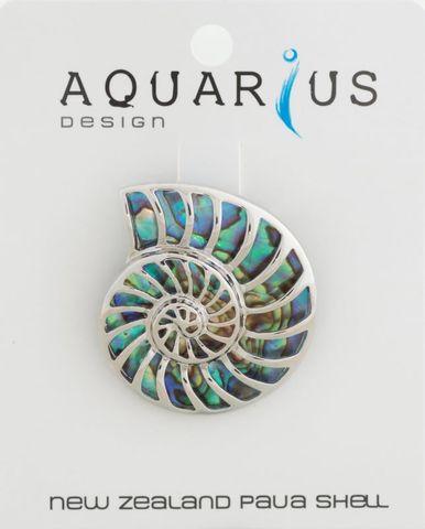 Paua Nautilus Brooch